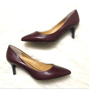 Nine West elise red wine pointy toe heels